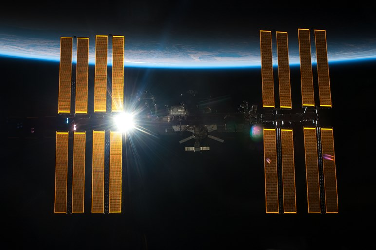 International Space Station orbiting the Earth